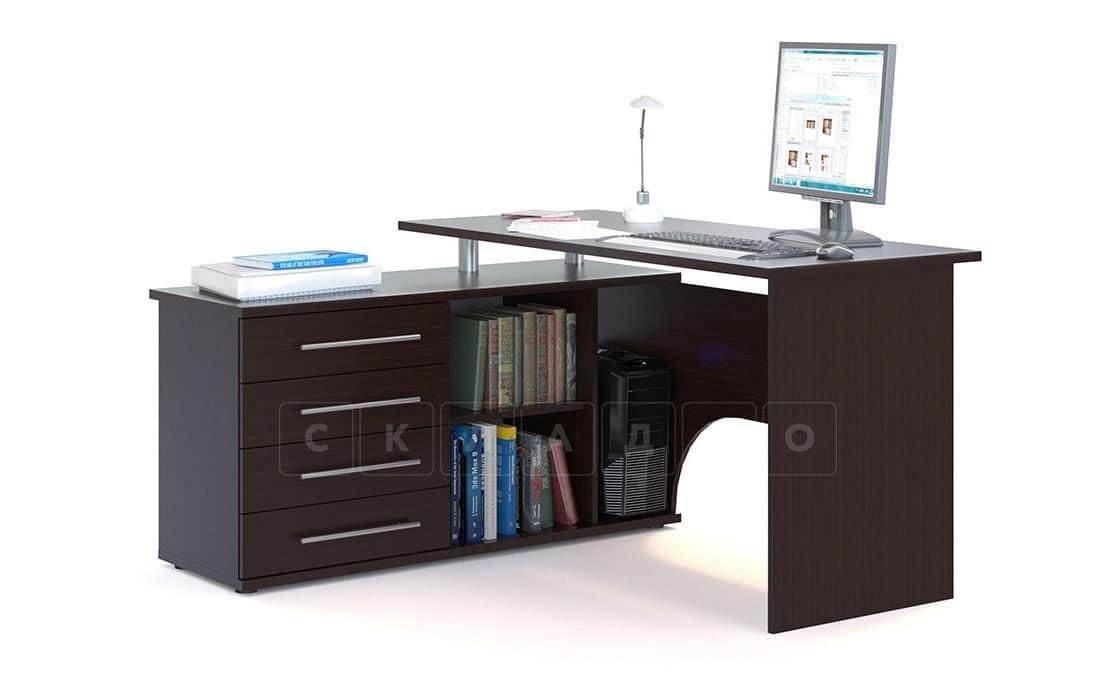 Компьютерный стол Сноу угловой венге фото 2 | интернет-магазин Складно
