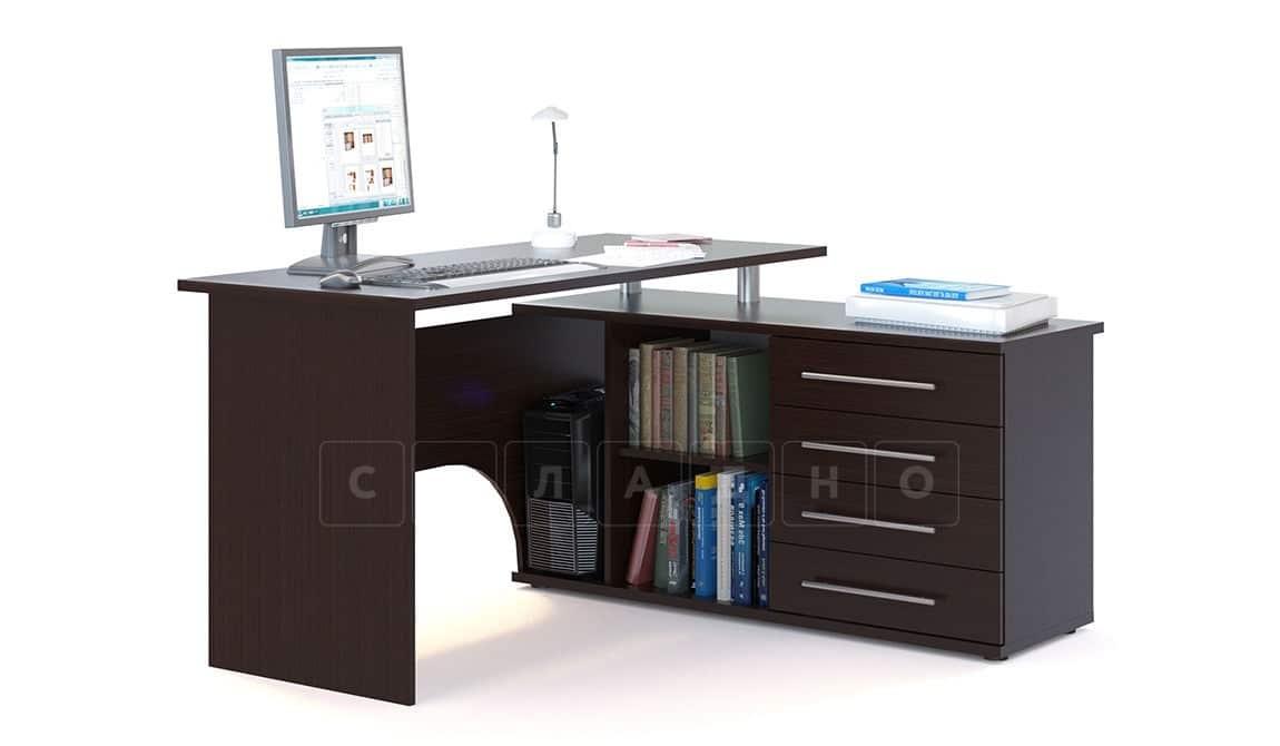 Компьютерный стол Сноу угловой венге фото 1 | интернет-магазин Складно