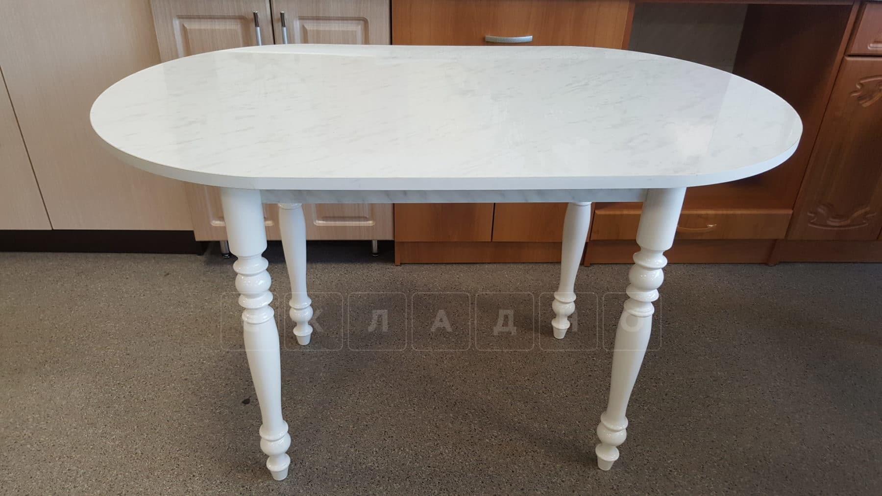 Обеденный стол овальный на резных ножках 120х70 фото 2 | интернет-магазин Складно