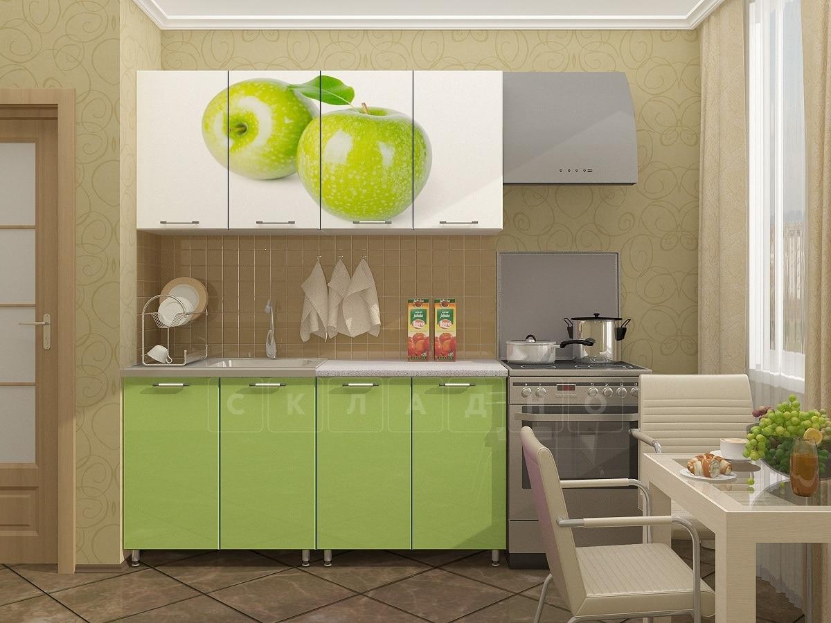 Кухня с фотопечатью Яблоко 160 см фото 1 | интернет-магазин Складно