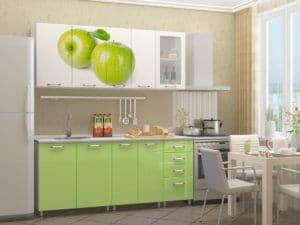 Кухня с фотопечатью Яблоко 1,8 м  22590  рублей, фото 1 | интернет-магазин Складно