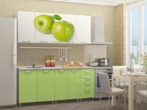 Кухня с фотопечатью Яблоко 1,8 м 22590 рублей, фото 2 | интернет-магазин Складно