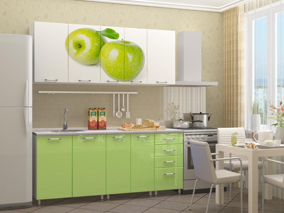 Кухня с фотопечатью Яблоко 1,8 м фото 2 | интернет-магазин Складно