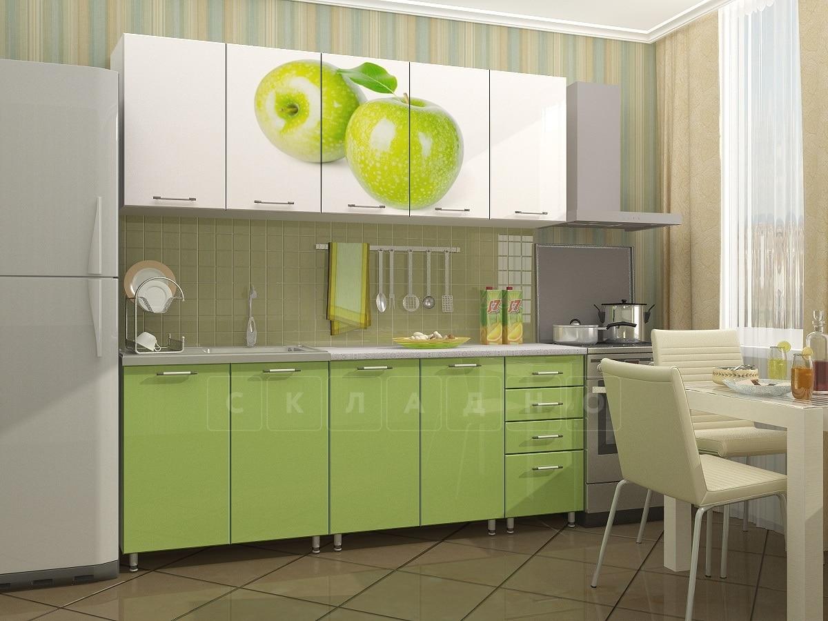 Кухня с фотопечатью Яблоко 2,0 м фото 1 | интернет-магазин Складно