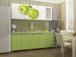 Кухня с фотопечатью Яблоко 2,0 м 21280 рублей, фото 2 | интернет-магазин Складно