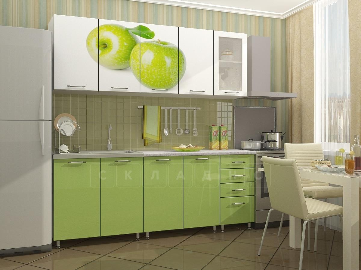 Кухня с фотопечатью Яблоко 2,0 м фото 2 | интернет-магазин Складно