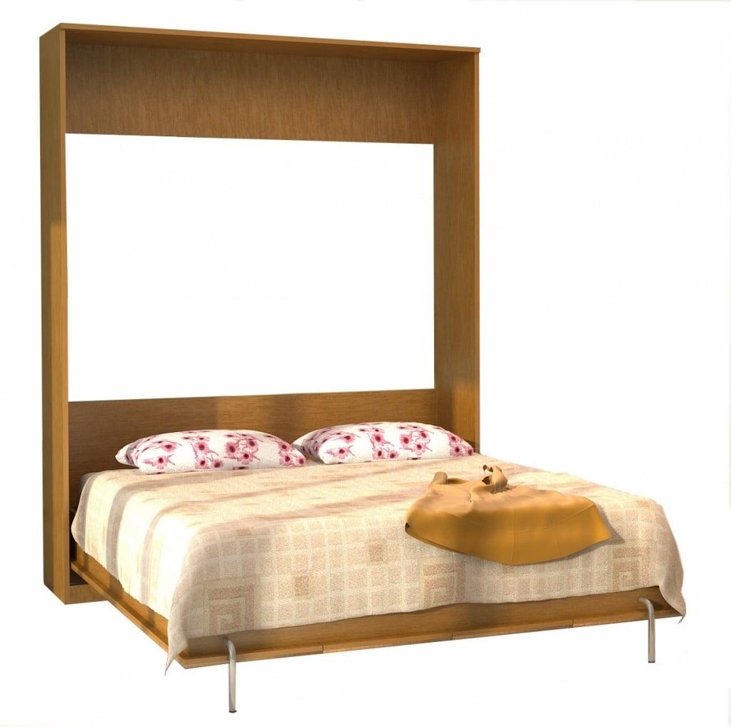Подъемная кровать 90 см горизонтальная с полками К03 фото 12 | интернет-магазин Складно