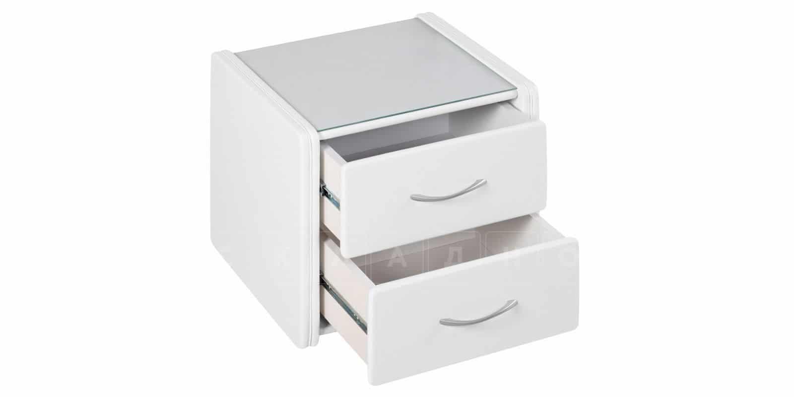 Прикроватная тумба Малибу 2 ящика с прямыми фасадами фото 3 | интернет-магазин Складно