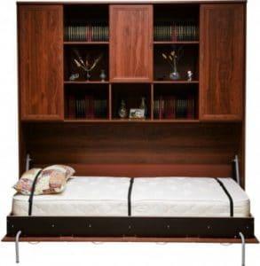 Подъемная кровать 90 см горизонтальная с полками К03 30100 рублей, фото 2 | интернет-магазин Складно