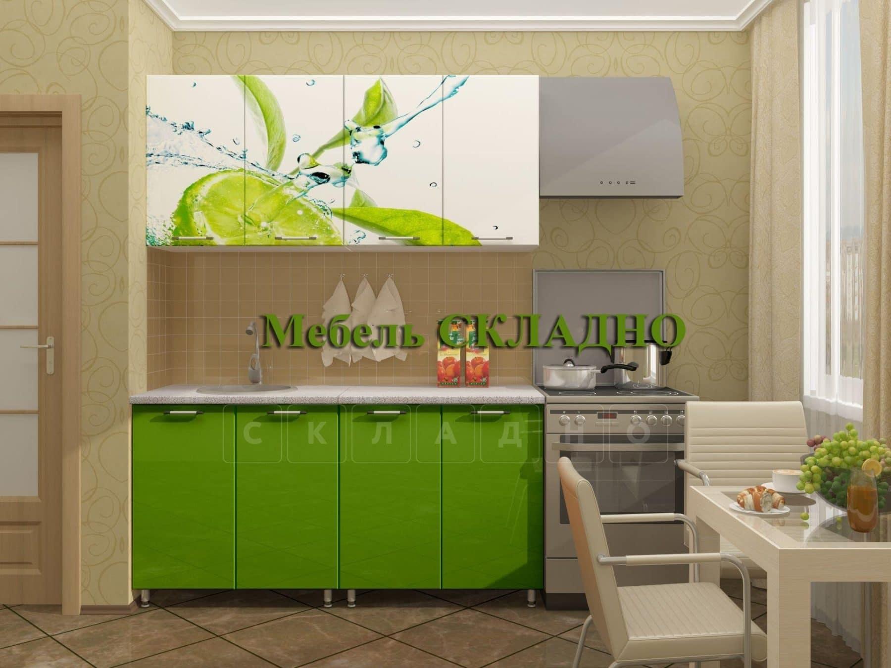 Кухня с фотопечатью Лайм 160 см фото 1   интернет-магазин Складно