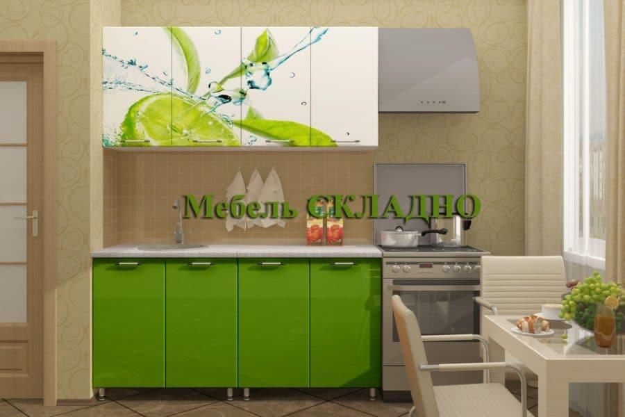 Кухня с фотопечатью Лайм 160см фото | интернет-магазин Складно