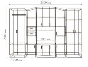 Стенка Макарена-2 17990 рублей, фото 5   интернет-магазин Складно