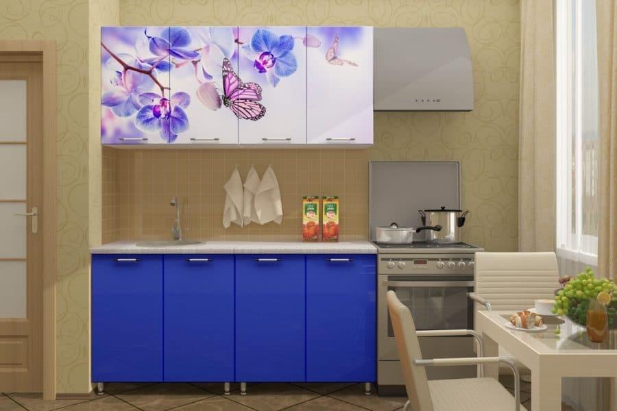 Кухня с фотопечатью Бабочка 160см фото | интернет-магазин Складно