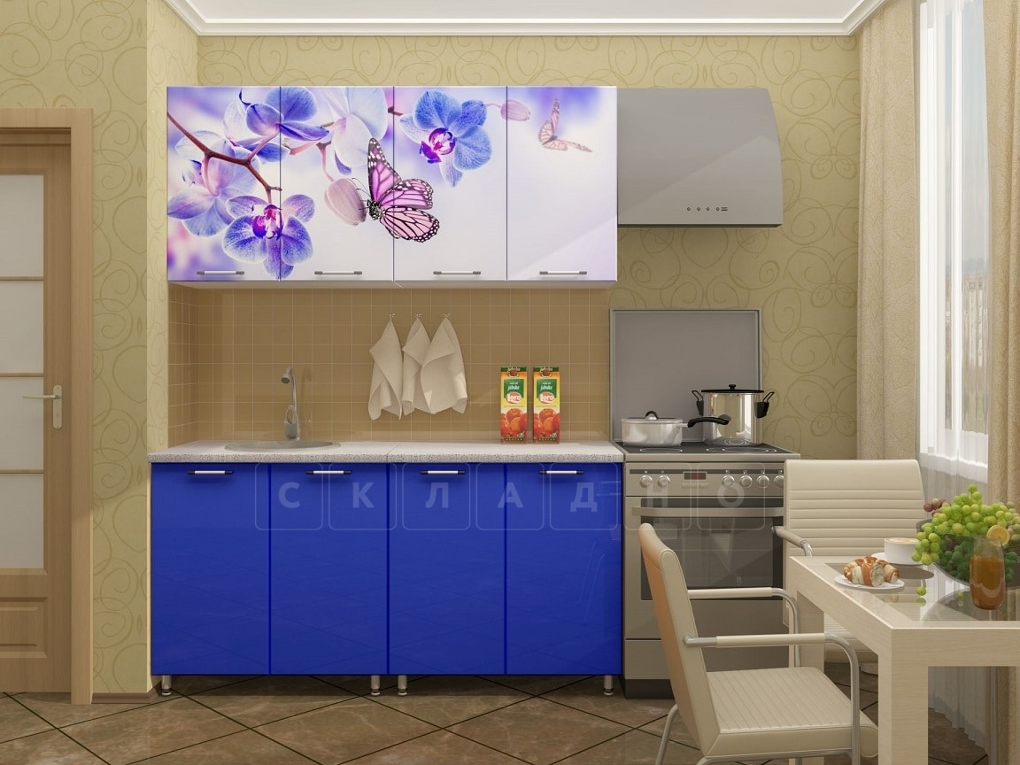 Кухня с фотопечатью Бабочка 160 см фото 1 | интернет-магазин Складно