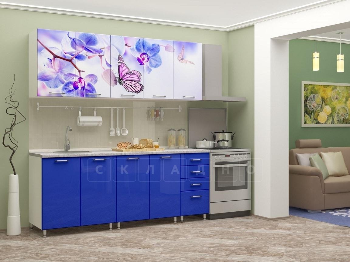 Кухня с фотопечатью Бабочка 2,0м фото 1 | интернет-магазин Складно
