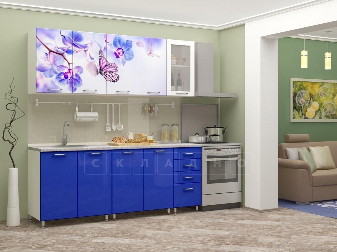 Кухня с фотопечатью Бабочка 2,0м фото 2 | интернет-магазин Складно