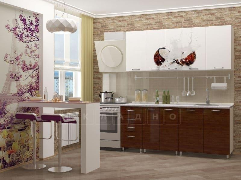 Кухня с фотопечатью Баунти 1,8 м фото 1 | интернет-магазин Складно