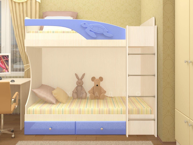 Двухъярусная кровать Бемби с ящиками фото 2 | интернет-магазин Складно
