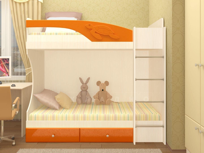 Двухъярусная кровать Бемби с ящиками фото 4 | интернет-магазин Складно