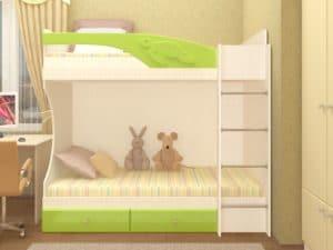 Двухъярусная кровать Бемби с ящиками 15390 рублей, фото 5 | интернет-магазин Складно