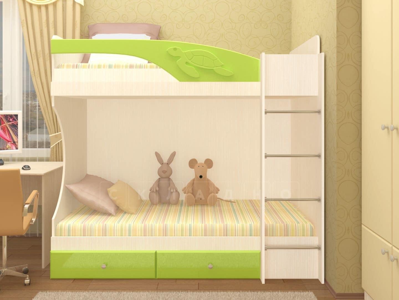 Двухъярусная кровать Бемби с ящиками фото 5 | интернет-магазин Складно
