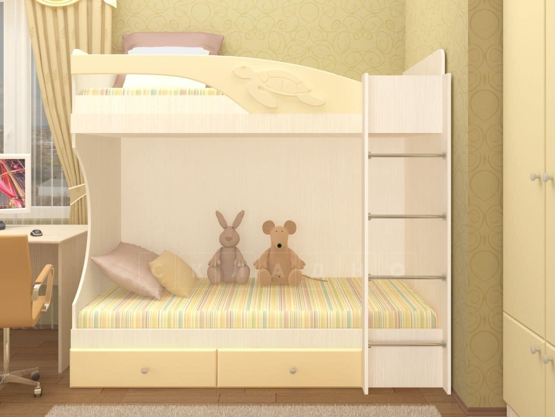 Двухъярусная кровать Бемби с ящиками фото 1 | интернет-магазин Складно