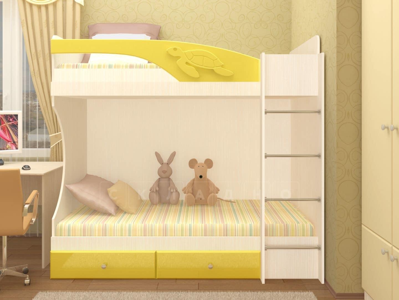 Двухъярусная кровать Бемби с ящиками фото 6 | интернет-магазин Складно