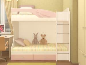 Двухъярусная кровать Бемби с ящиками 15390 рублей, фото 3 | интернет-магазин Складно