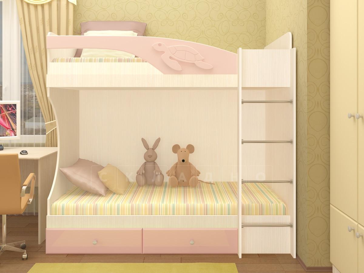 Двухъярусная кровать Бемби с ящиками фото 3 | интернет-магазин Складно