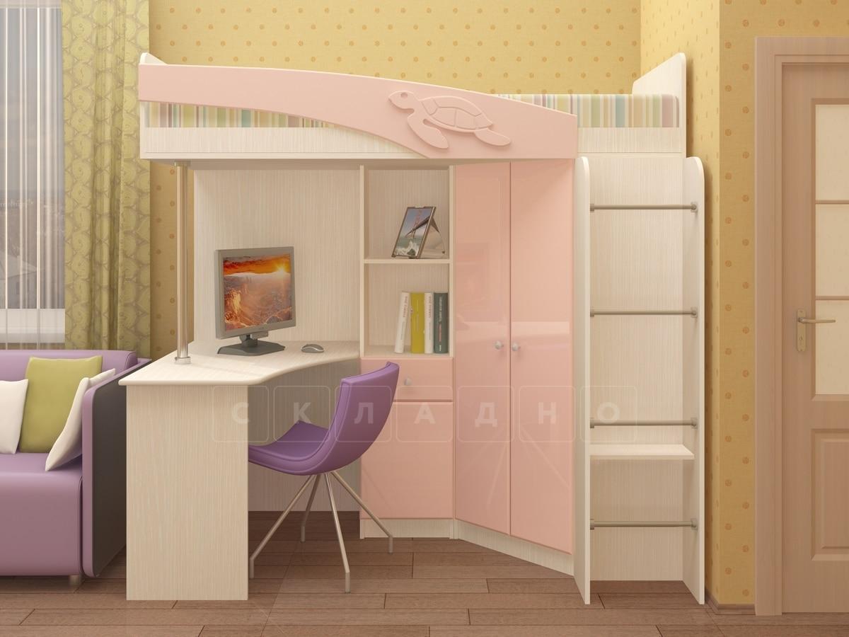 Кровать чердак Бемби с письменным столом фото 1 | интернет-магазин Складно