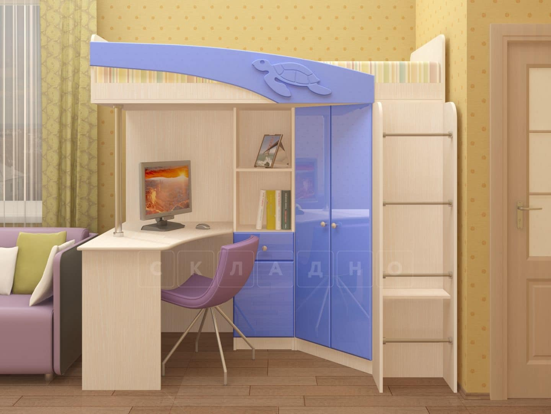 Кровать чердак Бемби с письменным столом фото 3 | интернет-магазин Складно