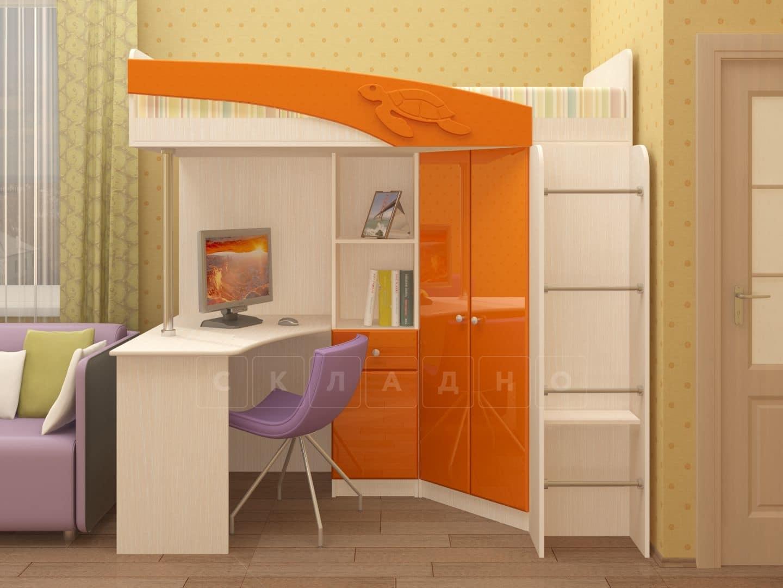 Кровать чердак Бемби с письменным столом фото 4 | интернет-магазин Складно