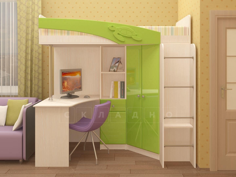 Кровать чердак Бемби с письменным столом фото 2 | интернет-магазин Складно