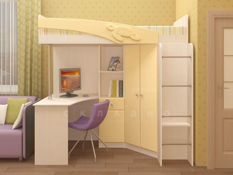 Кровать чердак Бемби с письменным столом фото 5 | интернет-магазин Складно