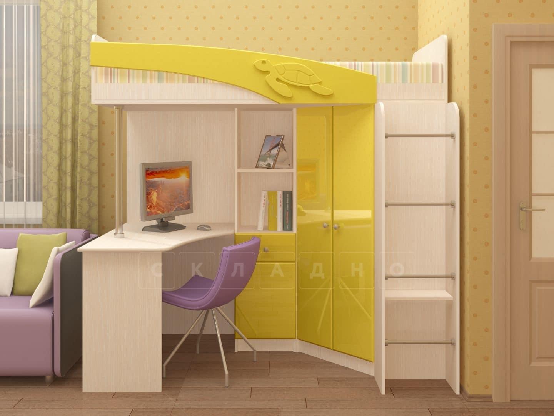 Кровать чердак Бемби с письменным столом фото 6 | интернет-магазин Складно
