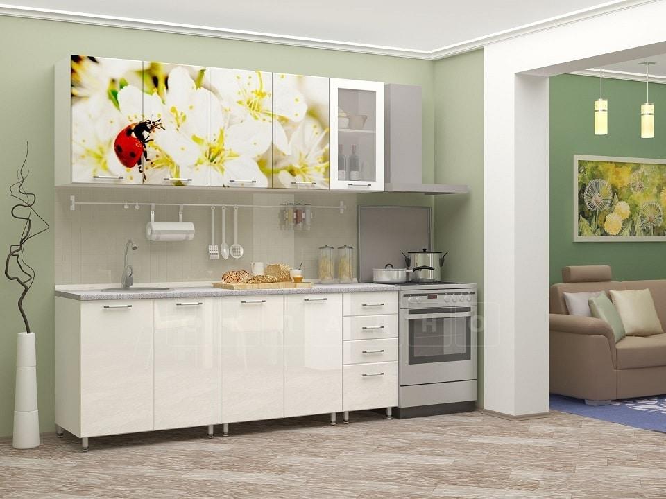 Кухня с фотопечатью Божья коровка 2,0м фото 1 | интернет-магазин Складно