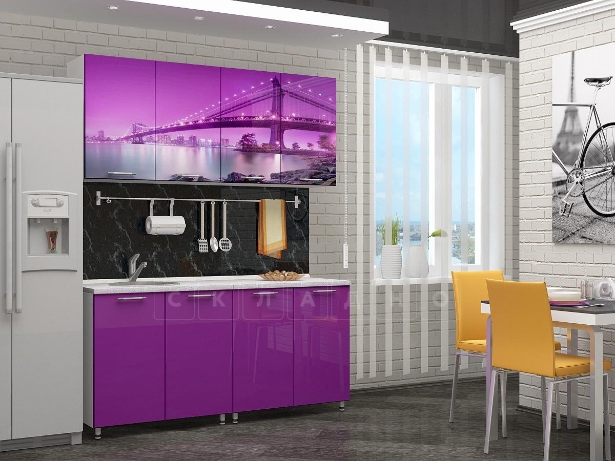 Кухня с фотопечатью Бридж 160 см фото 1 | интернет-магазин Складно