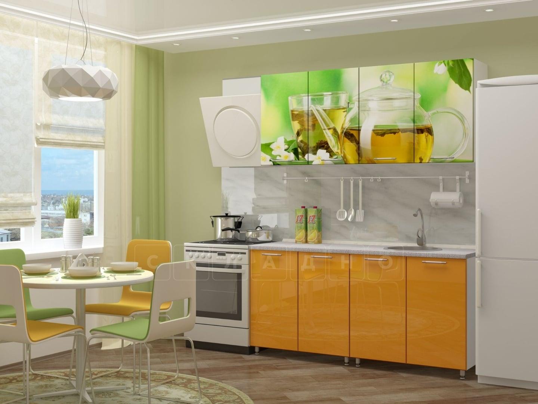 Кухня с фотопечатью Чайник 160 см фото 1 | интернет-магазин Складно