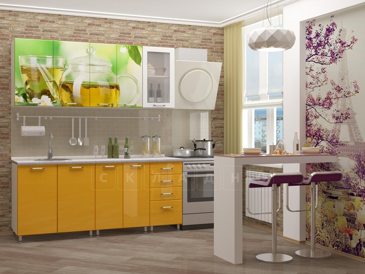 Кухня с фотопечатью Чайник 1,8 м фото 1 | интернет-магазин Складно