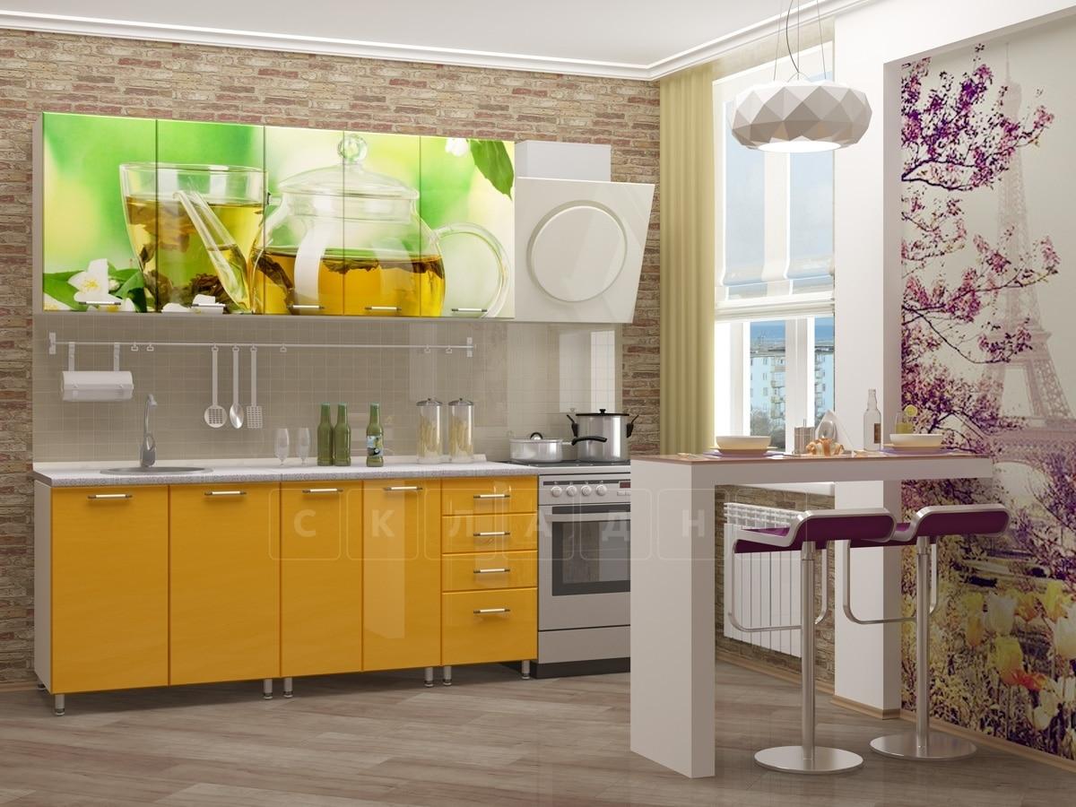 Кухня с фотопечатью Чайник 1,8 м фото 2 | интернет-магазин Складно