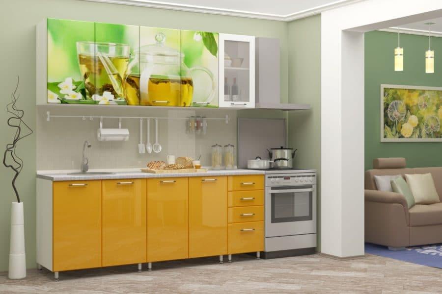 Кухня с фотопечатью Чайник 2,0м фото | интернет-магазин Складно