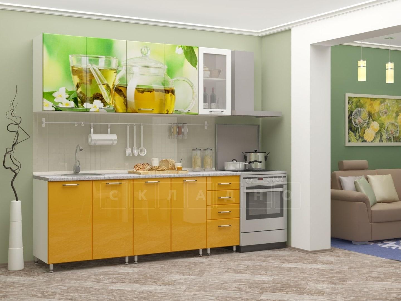 Кухня с фотопечатью Чайник 2,0м фото 1 | интернет-магазин Складно