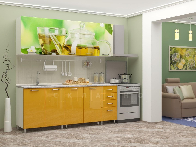 Кухня с фотопечатью Чайник 2,0м фото 2 | интернет-магазин Складно