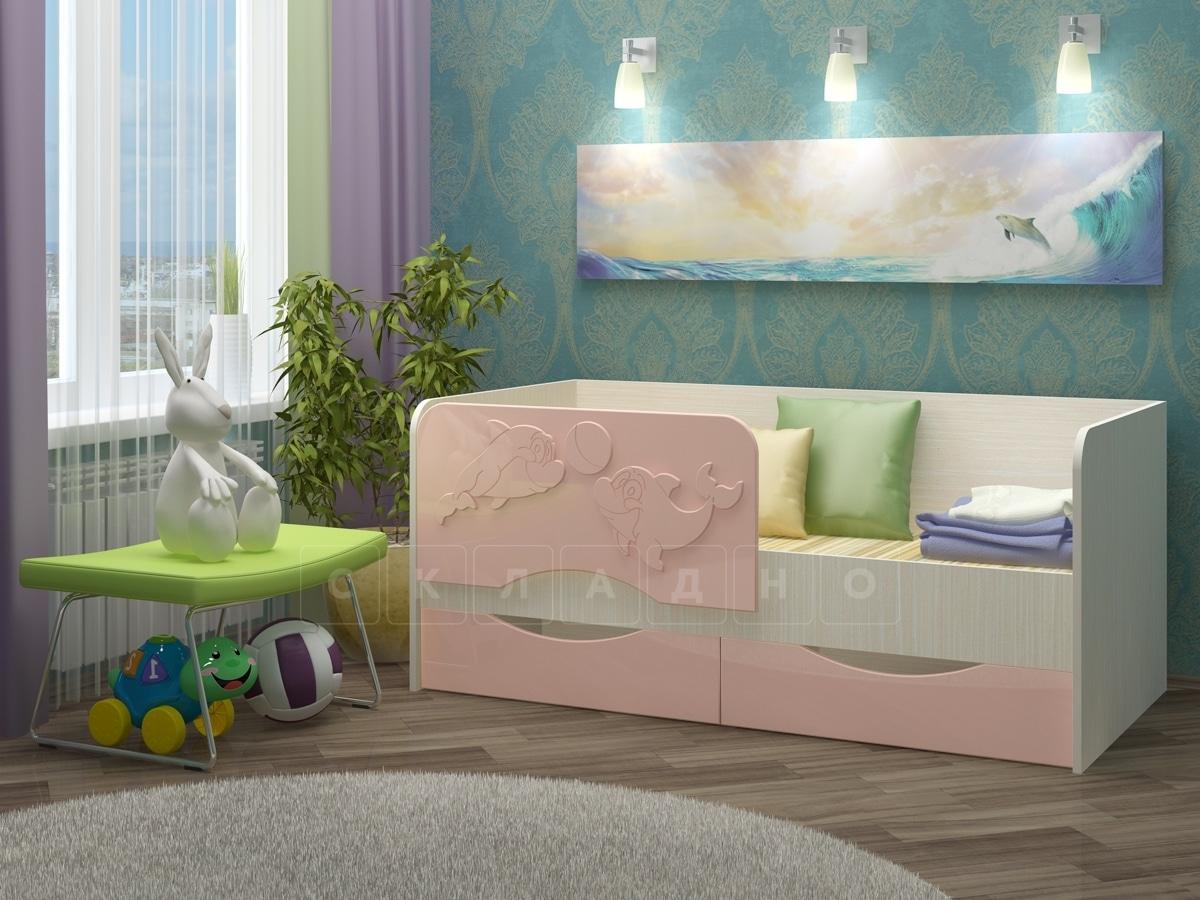 Детская кровать Дельфин-2 МДФ фото 7 | интернет-магазин Складно