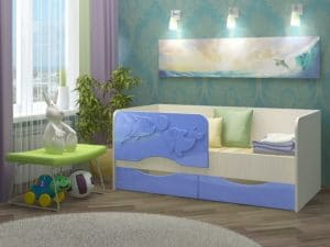 Детская кровать Дельфин-2 МДФ фото 2 | интернет-магазин Складно