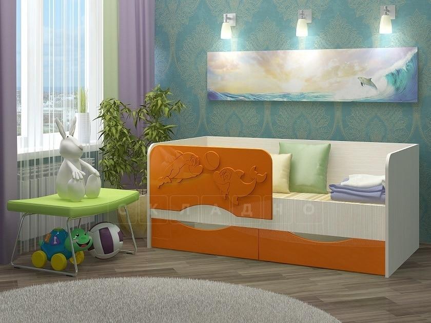 Детская кровать Дельфин-2 МДФ фото 6 | интернет-магазин Складно