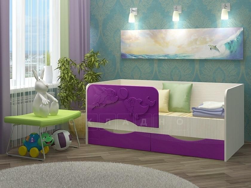 Детская кровать Дельфин-2 МДФ фото 5 | интернет-магазин Складно