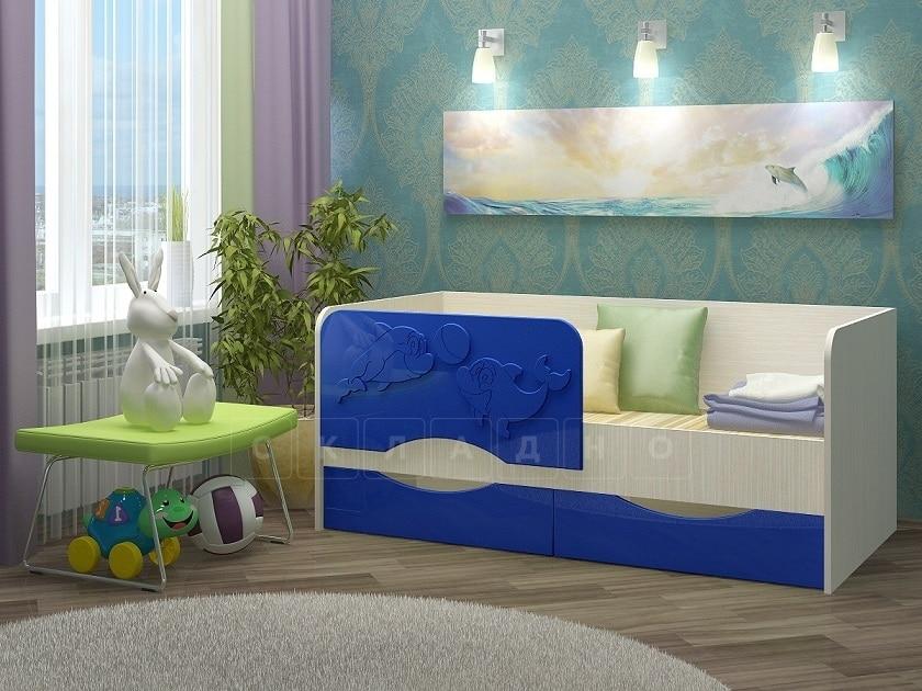 Детская кровать Дельфин-2 МДФ фото 4 | интернет-магазин Складно