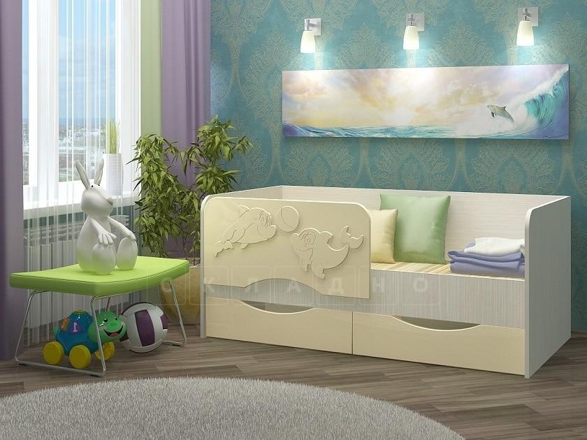 Детская кровать Дельфин-2 МДФ фото 3 | интернет-магазин Складно