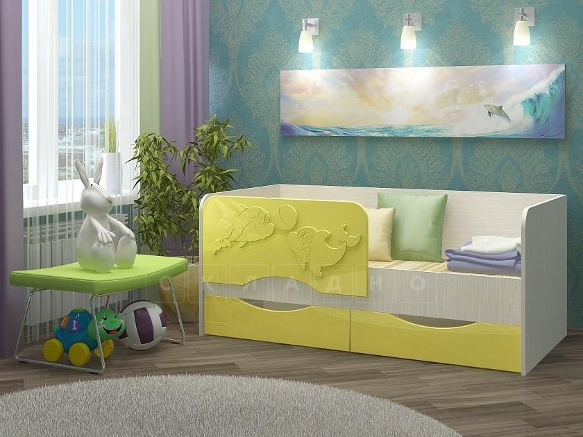 Детская кровать Дельфин-2 МДФ фото 1 | интернет-магазин Складно
